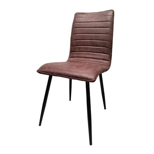 upholstered dining chair with metal legs The Bed Shop
