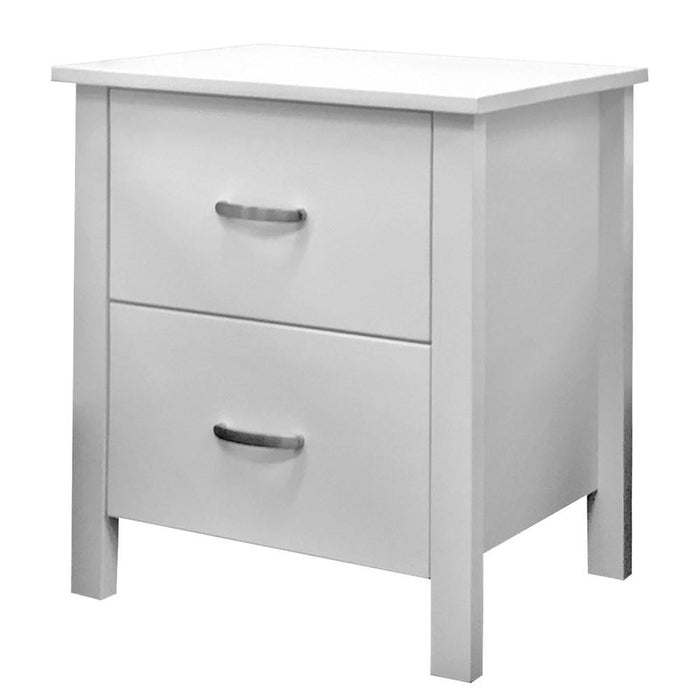 white bedside with 2 drawers Polly Collection The Bed Shop