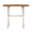 wooden trestle lamp side table white natural Bayswater Collection The Bed Shop