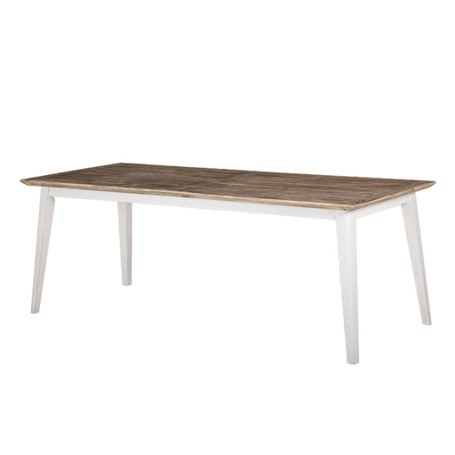 wooden dining table white natural Brooklyn Collection The Bed Shop