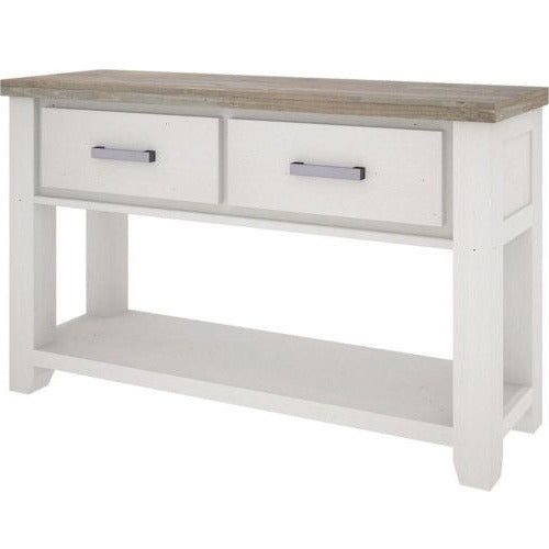 White hall table with 2 drawers Harlow Collection The Bed Shop