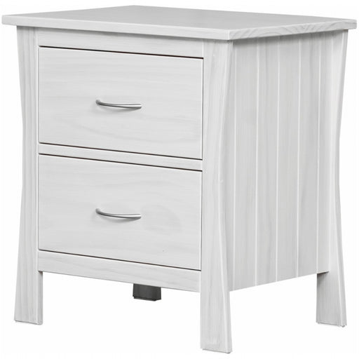 wooden bedside with two drawers custom New Zealand made Maddison Collection The Bed Shop