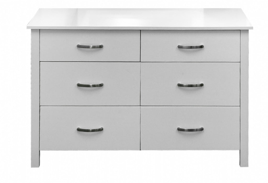 white dresser with 6 drawers Polly Collection The Bed Shop