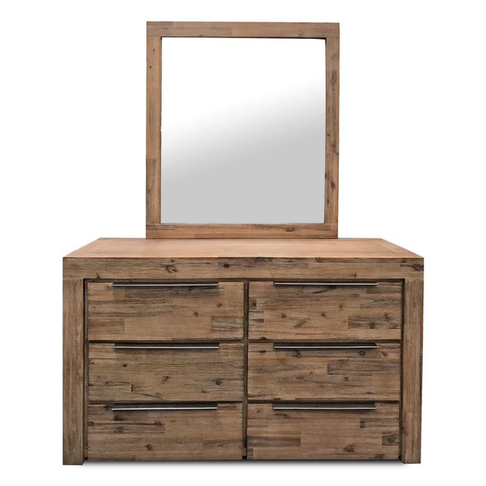 natural wood mirror and dresser Cape Collection The Bed Shop