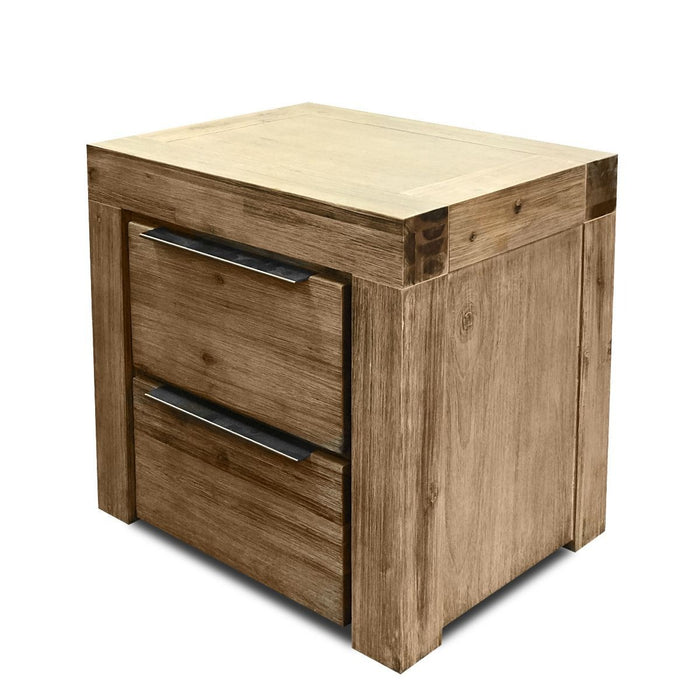 natural wood bedside with 2 drawers Cape Collection The Bed Shop