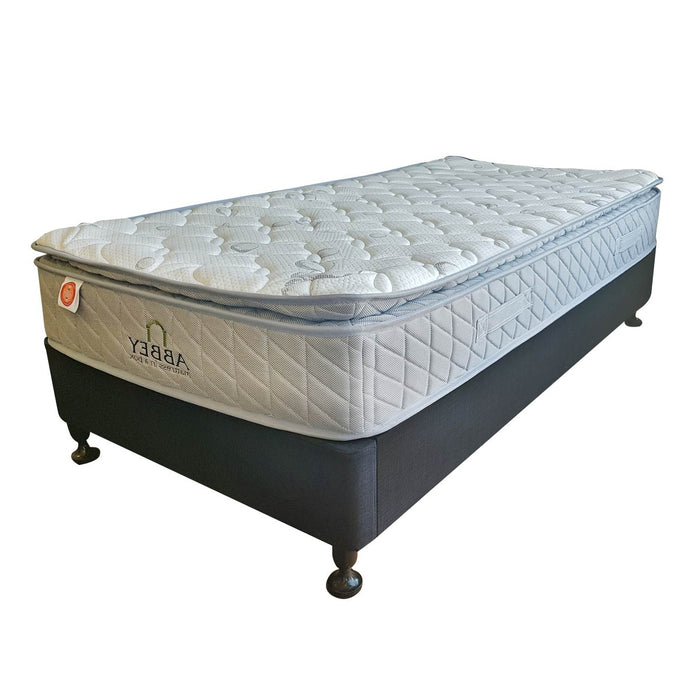slat bed base flat packed brighton base with pocket spring mattress  The Bed Shop