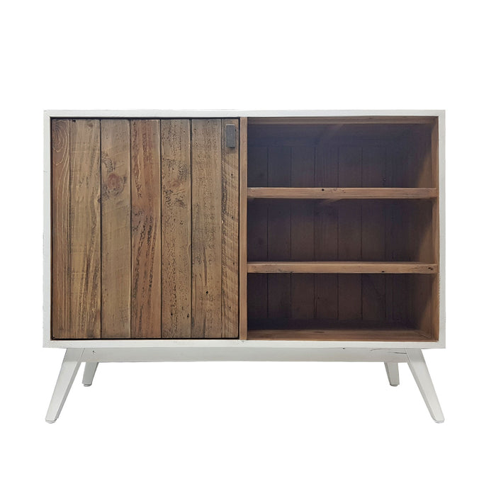 wooden buffet unit cupboard white wash natural Brooklyn Collection The Bed Shop