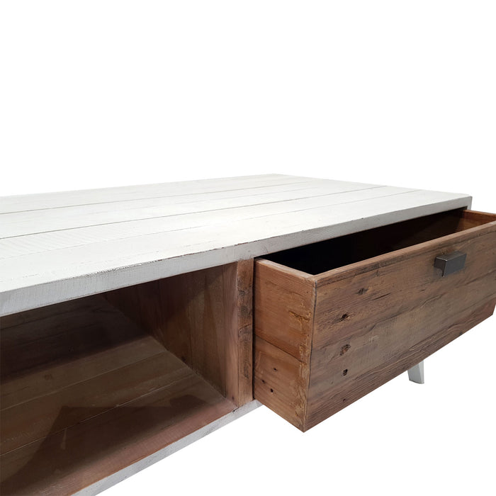 wooden coffee table with drawer Brooklyn Collection The Bed Shop
