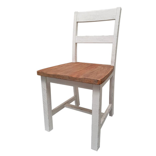 wooden dining chair white natural Brooklyn Collection The Bed Shop