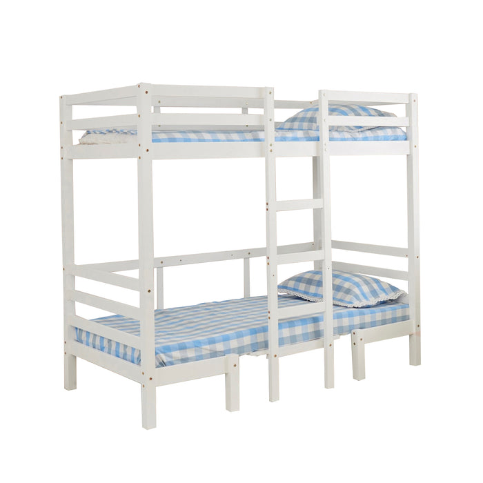 kids bunk bed loft bed white table Ralph frame The Bed Shop