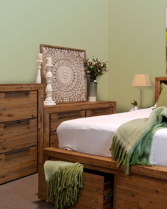 natural wood seven drawer tallboy Cape Collection The Bed Shop