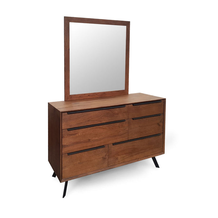 Modern Contemporary wood natural dresser and mirror Harper Collection The Bed Shop