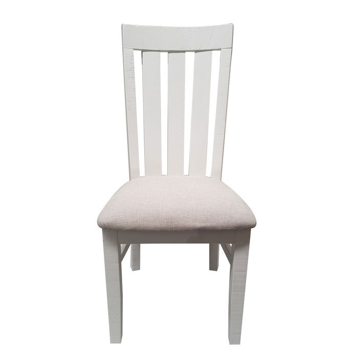 White dining chair with cushioned seat Harlow Collection The Bed Shop