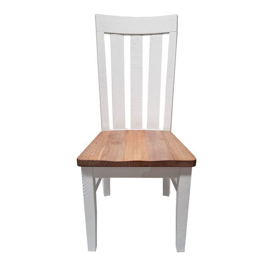 White dining chair with wooden seat Harlow Collection The Bed Shop