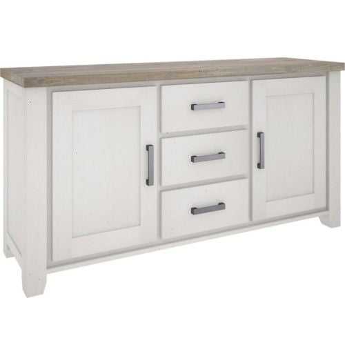 White buffet with 3 drawers and 2 cupboards Harlow Collection The Bed Shop