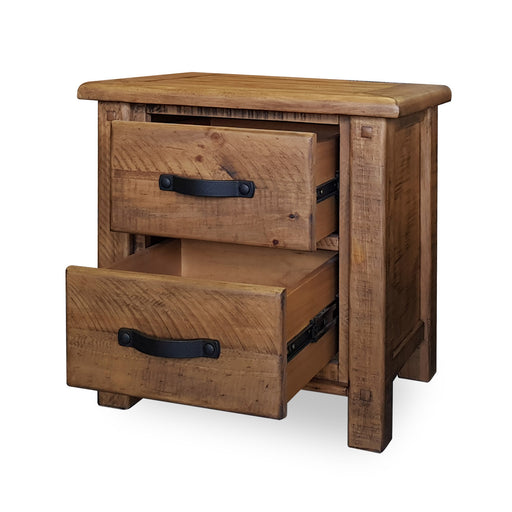 Wooden bedside with 2 drawers Havana Bedroom Collection The Bed Shop