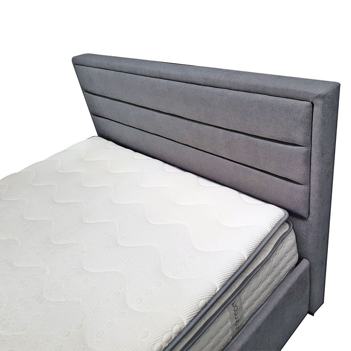 storage 4 drawer bed frame upholstered headboard queen Hilton The Bed Shop