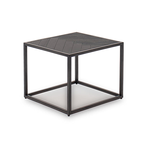 modern metal and wood lamp side table Houston Collection The Bed Shop