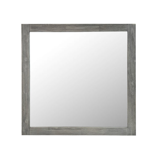 Grey wood mirror Hudson Collection The Bed Shop