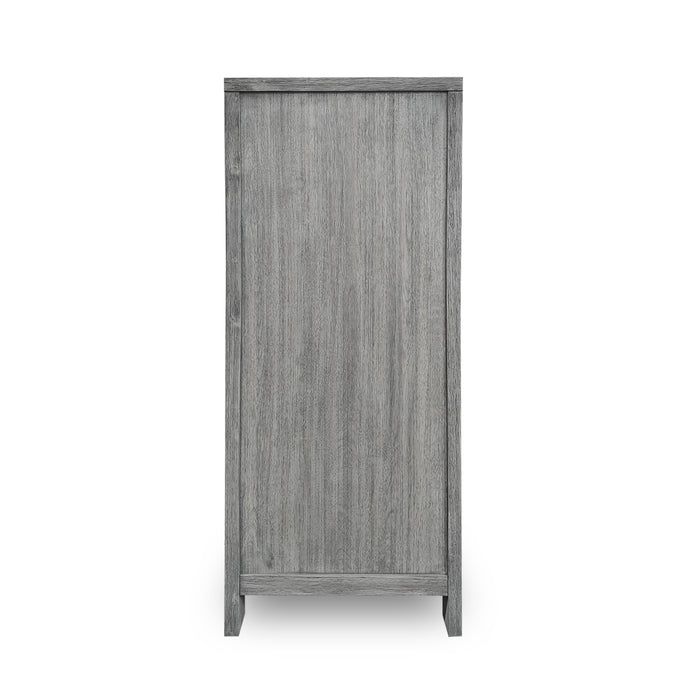 Grey wood 4 drawer tallboy Hudson Collection The Bed Shop