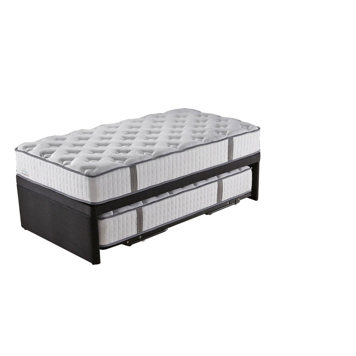 trundle bed king single and single bed base with two mattresses The Bed Shop