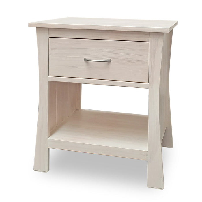 wooden bedside with one drawer custom New Zealand made Maddison Collection The Bed Shop