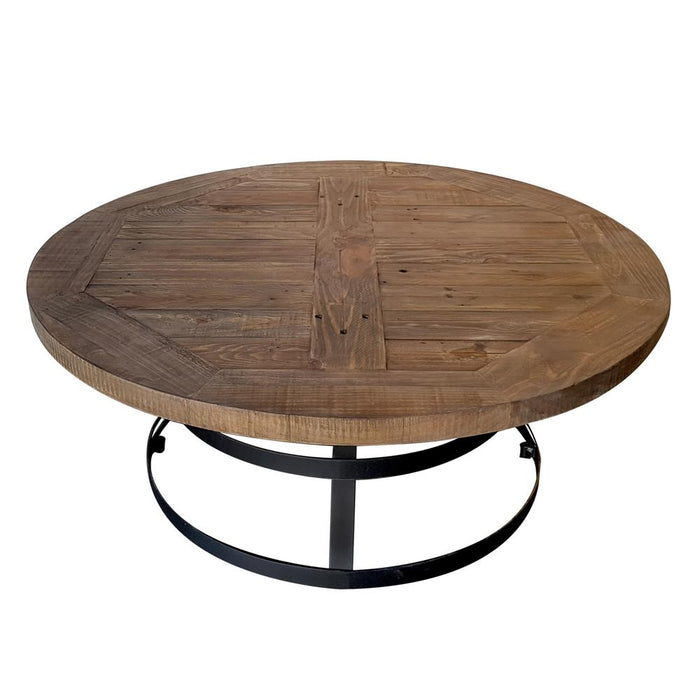 Round coffee table with metal frame Newcastle Collection The Bed Shop