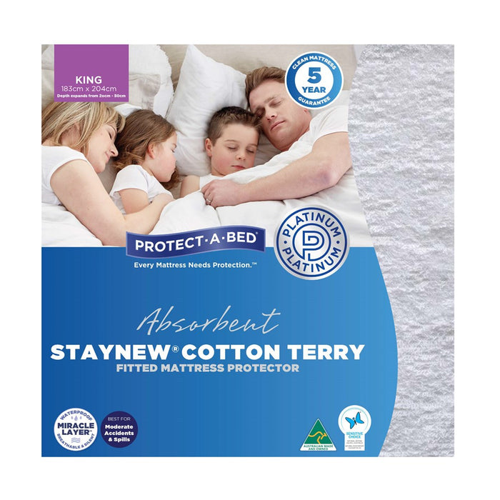 Protect A Bed Mattress Protector - StayNew Cotton Terry