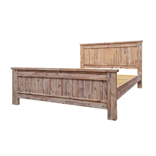 Natural wood bedframe with headboard Raglan Bedroom Collection The Bed Shop