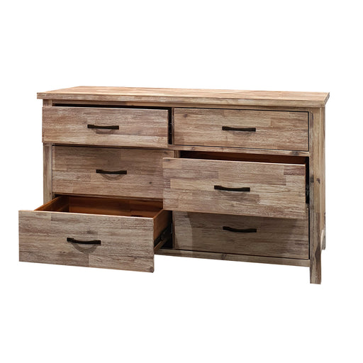 Natural wood dresser with 6 drawers Raglan Bedroom Collection The Bed Shop