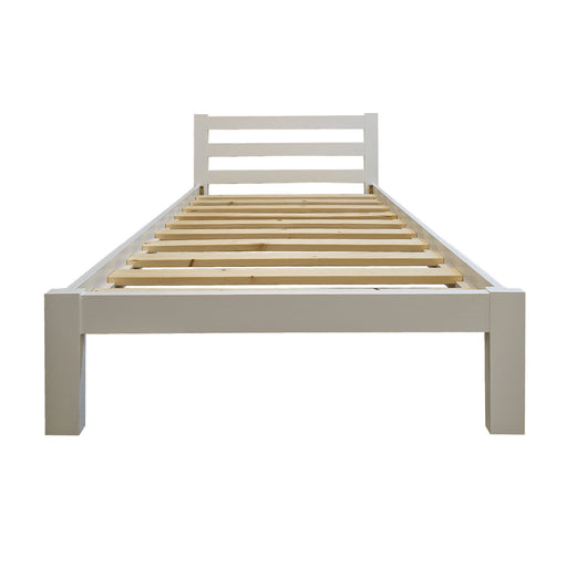 Turner White Bed Frame - The Bed Shop NZ