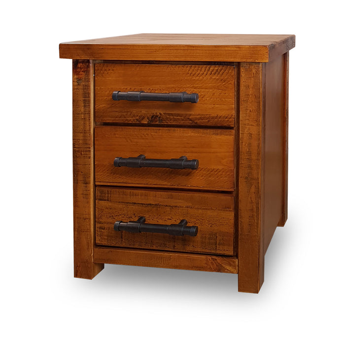 Wooden traditional 3 drawer bedside table Westpoint Collection The Bed Shop