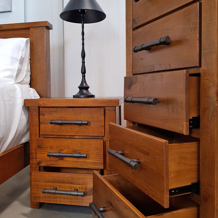 Wooden traditional 6 drawer tallboy Westpoint Collection The Bed Shop