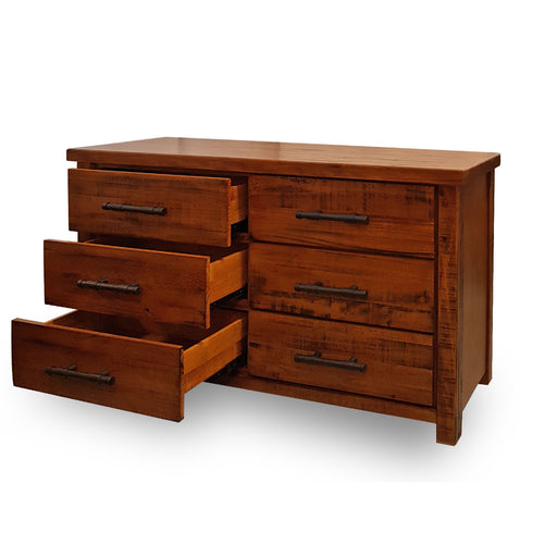 Wooden traditional 6 drawer dresser Westpoint Collection The Bed Shop