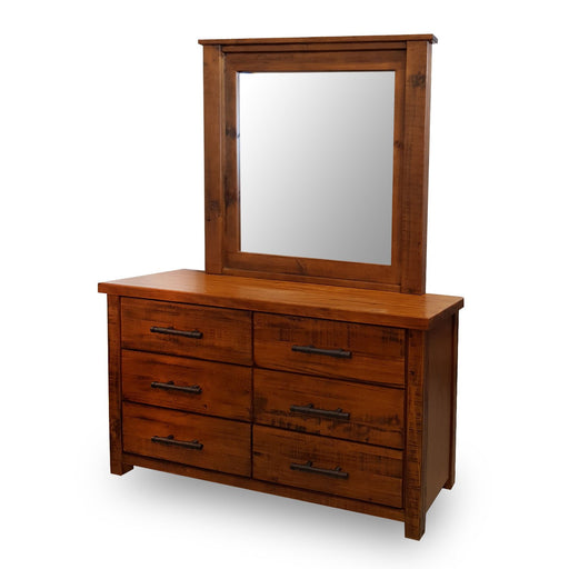 Wooden traditional mirror and dresser Westpoint Collection The Bed Shop