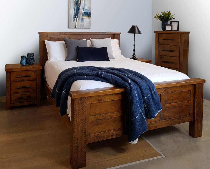 Wooden traditional bedframe with headboard Westpoint Collection The Bed Shop