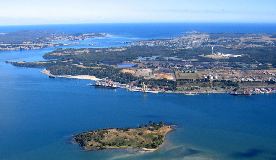 Bell Bay aerial view