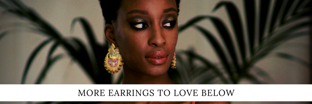 Statement earrings for this festive season