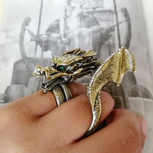Load image into Gallery viewer, Two Finger Dragon Ring