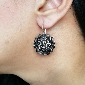 Meditating Ganesha Earrings