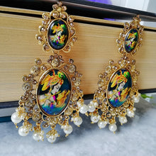 Load image into Gallery viewer, Radha Krishna Dangle Earrings