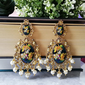 Radha Krishna Dangle Earrings