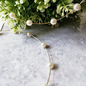 Gold Pearl Oversized Hoop Earrings
