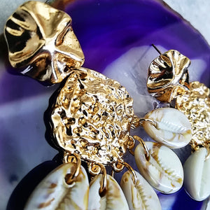 Golden Seashell Earrings