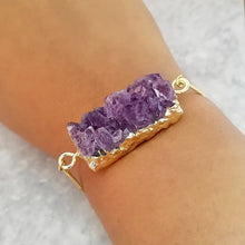 Load image into Gallery viewer, Amethyst Druzy Bracelet