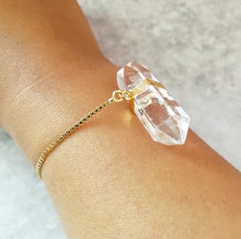 Load image into Gallery viewer, Clear Crystal Quartz Druzy Bracelet