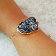 Load image into Gallery viewer, Grey Druzy Crystal Bracelet