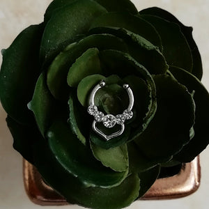 Silver Faux Septum / Daith Ring - No Piercing Needed!