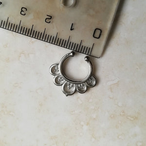 Faux Silver Faux Septum / Daith Ring - No Piercing Needed! / Daith Ring - No Piercing Needed!