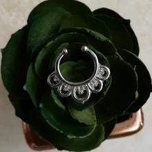 Load image into Gallery viewer, Faux Silver Faux Septum / Daith Ring - No Piercing Needed! / Daith Ring - No Piercing Needed!